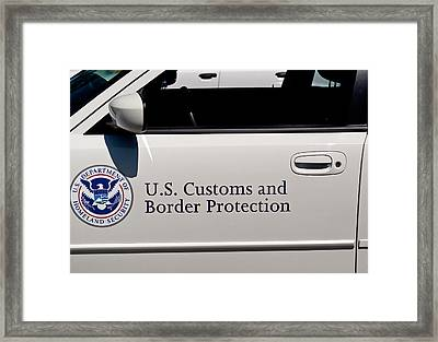 U.s. Customs And Border Protection Framed Print by Tikvah's Hope