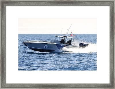 Us Customs At Work Framed Print by Shoal Hollingsworth