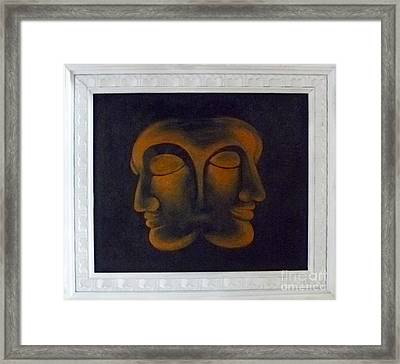 Framed Print featuring the painting Us by Fei A