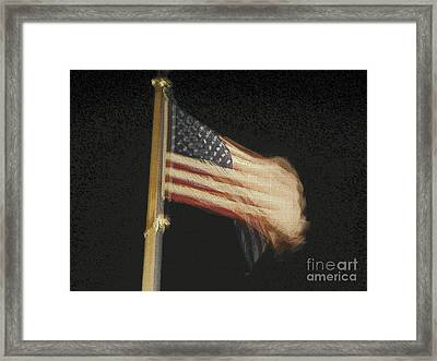 Us Flag Framed Print by Celestial Images