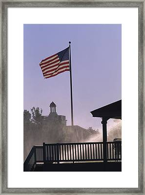 U.s. Flag At Pinehurst Framed Print