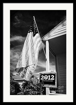 2012 Presidential Race Framed Prints
