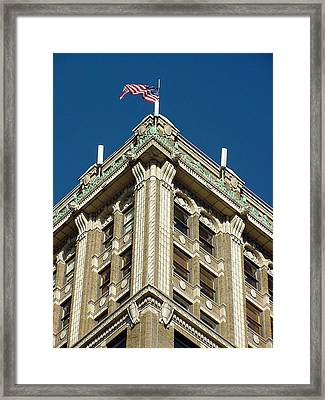 Us Flag Framed Print by Mieczyslaw Rudek