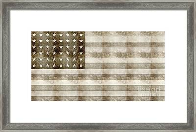 Us Flag Sketch Framed Print