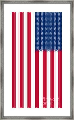 Us  Flag Vertical Framed Print by Celestial Images