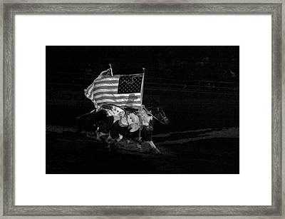 Framed Print featuring the photograph U.s. Flag Western by Ron White