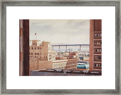 Us Grant Hotel In San Diego Framed Print