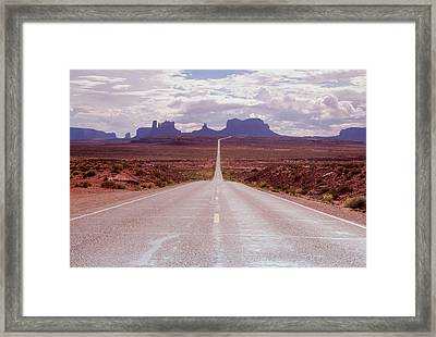 Us Highway 163 Framed Print