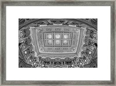 Us Library Of Congress Bw Framed Print