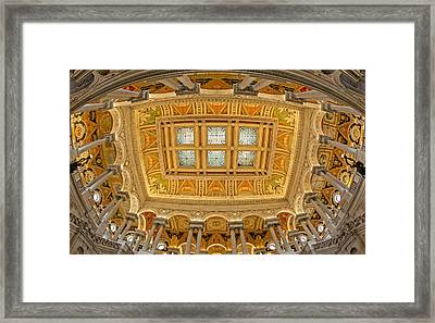Us Library Of Congress Framed Print by Susan Candelario