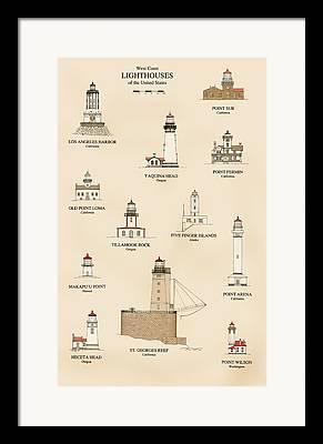 Finger Lakes Drawings Framed Prints