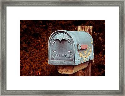 U.s. Mail Approved Framed Print by Eti Reid
