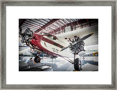 U.s. Mail Carrier Vintage Airplane   Framed Print