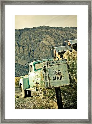 Us Mail Framed Print by Merrick Imagery