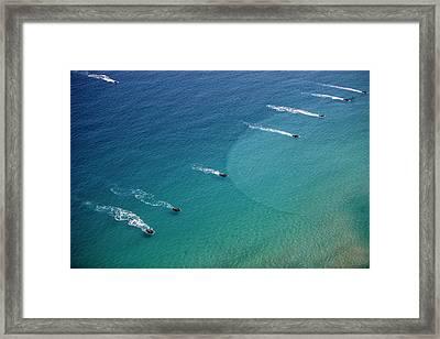 U.s. Marine Amphibious Assault Vehicles Framed Print by Stocktrek Images