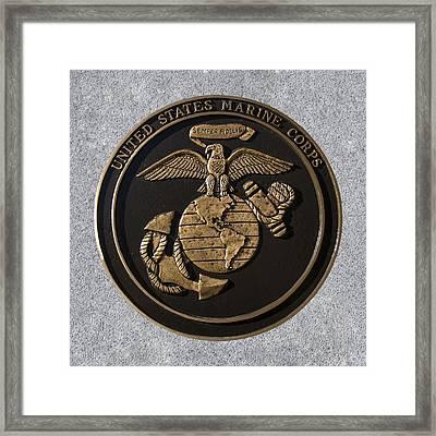 Us Marine Corps Framed Print by Chris Flees