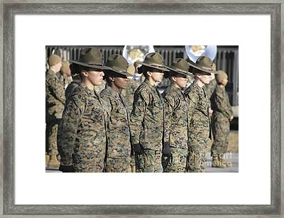 U.s. Marine Corps Female Drill Framed Print