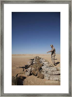 U.s. Marine Corps Officer Directs Framed Print by Stocktrek Images