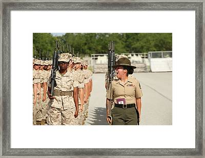 U.s. Marine Corps Staff Sergeant Framed Print by Stocktrek Images