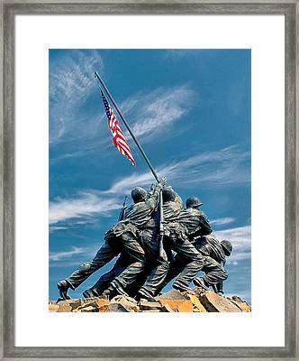 Us Marine Corps War Memorial Framed Print