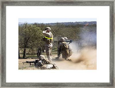 U.s. Marines Employ An At-4 Light Framed Print by Stocktrek Images