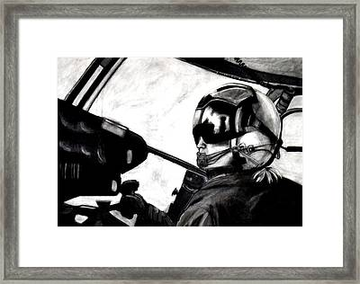 U.s. Marines Helicopter Pilot Framed Print