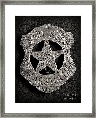 Us Marshal - Law Enforcement - Badge - Cowboy Framed Print