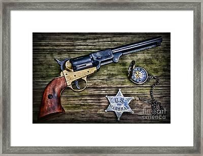 Us Marshall - American Justice - Cowboy Framed Print