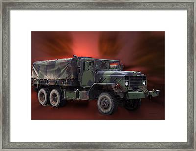 Us Military Truck Framed Print by Thomas Woolworth