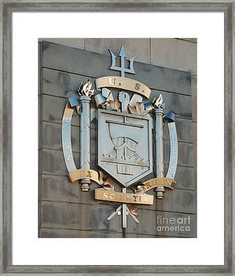 Us Naval Academy Insignia Framed Print by Mark Dodd