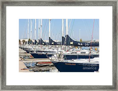 Us Navy 44 Sail Training Craft I Framed Print by Clarence Holmes