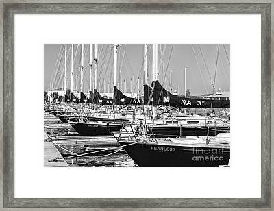 Us Navy 44 Sail Training Craft II Framed Print by Clarence Holmes