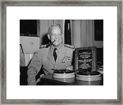 U.s. Navy Admiral Arleigh A. Burke Framed Print by Stocktrek Images