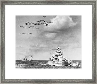 Us Navy And Aeroplanes, World War II Framed Print