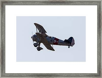 U.s. Navy Biplane Framed Print by John Ferrante