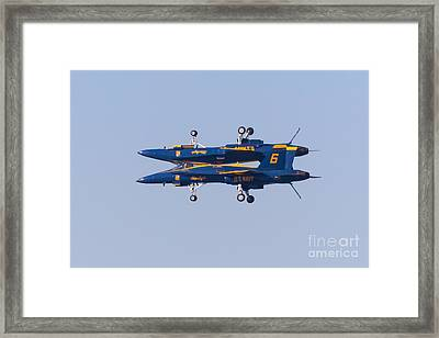 Us Navy Blue Angels F18 Supersonic Jets 5d29625 Framed Print by Wingsdomain Art and Photography