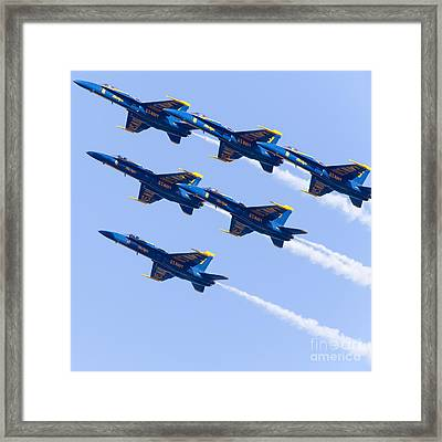 Us Navy Blue Angels F18 Supersonic Jets 5d29679 Framed Print by Wingsdomain Art and Photography