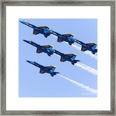 Us Navy Blue Angels F18 Supersonic Jets 5d29679 Framed Print