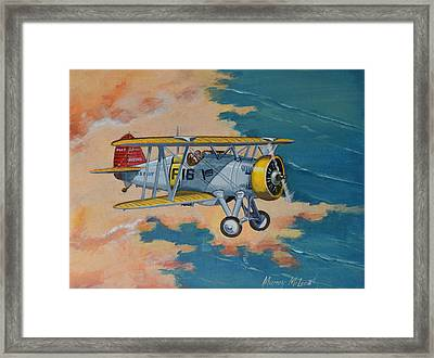 Us Navy Boeing F4b Framed Print by Murray McLeod