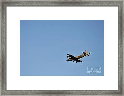 Us Navy Military Airplane Framed Print
