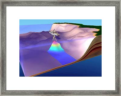Us Navy Oceanographic Survey Ship Framed Print by Us Navy
