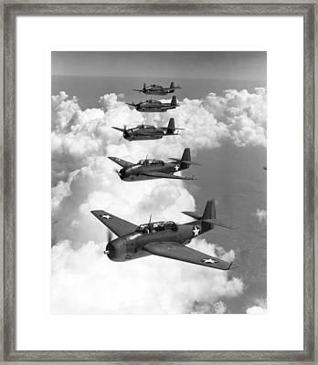 U.s. Navy Torpedo Bombers Framed Print