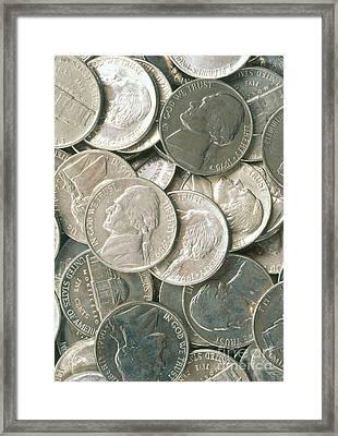U.s. Nickels Framed Print