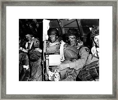U.s. Paratroopers With Blackened Faces Framed Print
