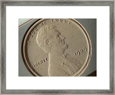 Us Penny Framed Print