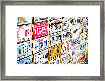 Us Plates Framed Print by Phil 'motography' Clark