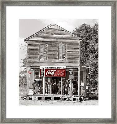 U.s. Post Office General Store Coca-cola Signs Sprott  Alabama Walker Evans Photo C.1935-2014. Framed Print by David Lee Guss