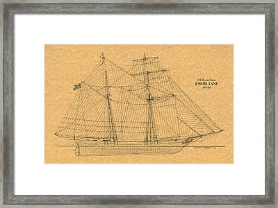 U.s. Revenue Cutter Joseph Lane Framed Print