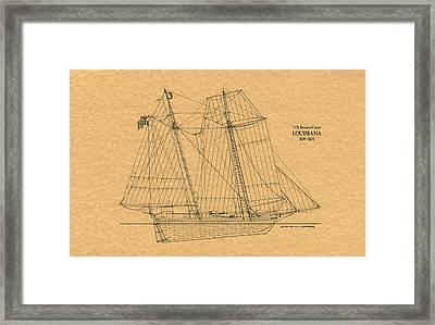 U.s. Revenue Cutter Louisiana Framed Print