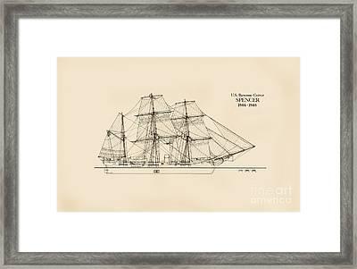 U. S. Revenue Cutter Spencer Framed Print